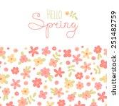 sizon card hello spring with... | Shutterstock .eps vector #251482759