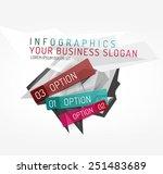 modern origami paper...   Shutterstock .eps vector #251483689