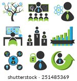 business icons vector collection | Shutterstock .eps vector #251485369