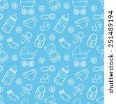 seamless baby pattern | Shutterstock .eps vector #251489194