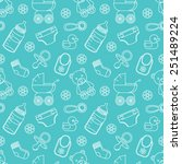 seamless baby pattern | Shutterstock .eps vector #251489224