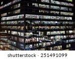 modern office building at night | Shutterstock . vector #251491099