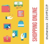 online shopping and finance... | Shutterstock .eps vector #251491219