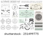 ultimate design elements kit.... | Shutterstock .eps vector #251499775