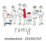 family event   funny sketch... | Shutterstock .eps vector #251501767
