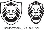 Lion Head Knocker And Crest...