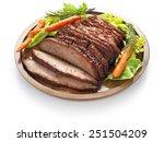 barbecue beef brisket isolated... | Shutterstock . vector #251504209