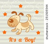 funny dog  | Shutterstock .eps vector #251505544