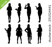 business woman silhouettes... | Shutterstock .eps vector #251524441