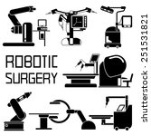 medical robot icons  robot... | Shutterstock .eps vector #251531821