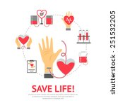 donor flat concept with blood... | Shutterstock .eps vector #251532205