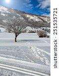Small photo of Winter scenery, Majella Mountain Abruzzi Italy.