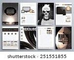 set of design templates for... | Shutterstock .eps vector #251551855