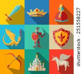 Flat Icons Set   Fairytale ...