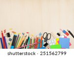 school and office supplies over ... | Shutterstock . vector #251562799