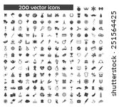 big vector set of object icons | Shutterstock .eps vector #251564425