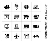 set icons of logistic isolated... | Shutterstock .eps vector #251569819