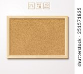 vector pinboard in a wooden... | Shutterstock .eps vector #251571835