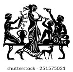 background in the greek style  | Shutterstock .eps vector #251575021