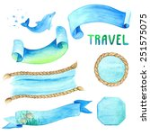 Watercolor Set Of Labels With...
