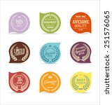 modern badges collection | Shutterstock .eps vector #251576065
