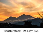 sunset view of fuego  ... | Shutterstock . vector #251594761