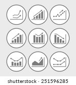 icons with charts and graphs | Shutterstock . vector #251596285