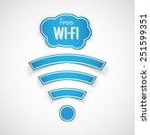 free wifi symbol | Shutterstock .eps vector #251599351