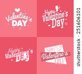happy valentines day vector... | Shutterstock .eps vector #251606101