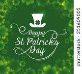st patrik day design  vector... | Shutterstock .eps vector #251609005
