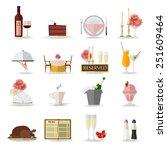 restaurant icons set. flat... | Shutterstock .eps vector #251609464