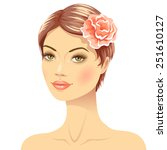 beautiful young woman with...   Shutterstock .eps vector #251610127