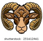 a aries head logo. this is... | Shutterstock .eps vector #251612461