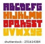 hand drawn font. vector alphabet | Shutterstock .eps vector #251614384