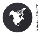north america map icon with... | Shutterstock .eps vector #251616799