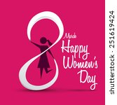 happy womens day design  vector ... | Shutterstock .eps vector #251619424