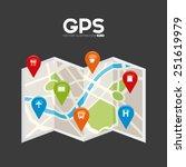 gps signals design  vector... | Shutterstock .eps vector #251619979