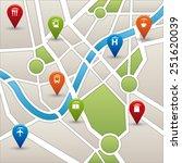 gps signals design  vector... | Shutterstock .eps vector #251620039