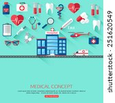medical research and healthcare ... | Shutterstock .eps vector #251620549