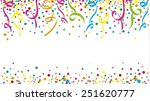 carnival with many confetti and ... | Shutterstock .eps vector #251620777