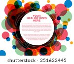 colorful dot overlap design... | Shutterstock .eps vector #251622445