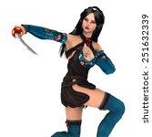 female fencer   Shutterstock . vector #251632339