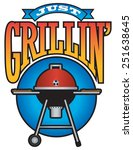 just grilling vector barbecue... | Shutterstock .eps vector #251638645