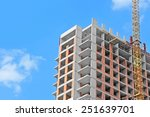 crane and building construction ... | Shutterstock . vector #251639701