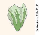 cartoon vegetable theme water... | Shutterstock . vector #251650195