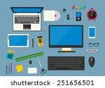 vector illustration of... | Shutterstock .eps vector #251656501