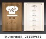restaurant or cafe menu vector... | Shutterstock .eps vector #251659651