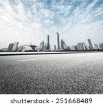 Modern Road With Skyline And...