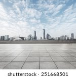 modern square with skyline and... | Shutterstock . vector #251668501