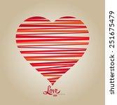 vector modern heart... | Shutterstock .eps vector #251675479